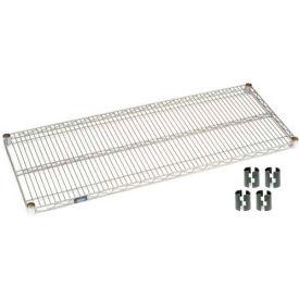 Nexelate Silver Epoxy Wire Shelf 36 x 24 with Clips
