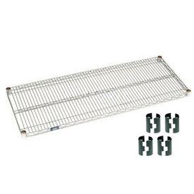 Chrome Wire Shelf 48x24 With Clips