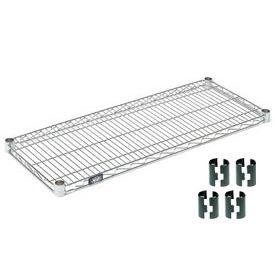 """Nexel S1836C Chrome Wire Shelf 36""""W x 18""""D with Clips"""