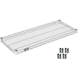 """Nexel S1454Z Poly-Z-Brite Wire Shelf 54""""W x 14""""D with Clips"""