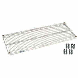 """Nexel S1848Z Poly-Z-Brite Wire Shelf 48""""W x 18""""D with Clips"""