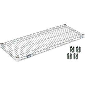 """Nexel S2142Z Poly-Z-Brite Wire Shelf 42""""W x 21""""D with Clips"""