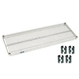 """Nexel S2472Z Poly-Z-Brite Wire Shelf 72""""W x 24""""D with Clips"""