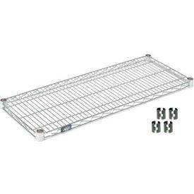 """Nexel S1824Z Poly-Z-Brite Wire Shelf 24""""W x 18""""D with Clips"""