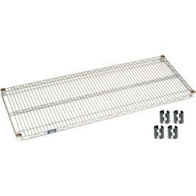 """Nexel S2460Z Poly-Z-Brite Wire Shelf 60""""W x 24""""D with Clips"""