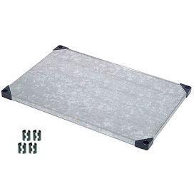 Nexel® Solid Galvanized Shelf 48 x 18 with Clips