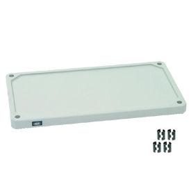"Nexel S2448SP Solid Plastic Shelf 48""W x 24""D with Clips"