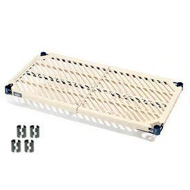 "Nexel PM1848N Vented Plastic Mat Shelf 48""W x 18""D Nexelon with Clips"