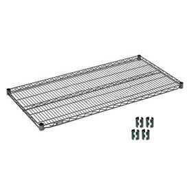 "Nexel S2448N Nexelon Wire Shelf 48""W x 24""D with Clips"