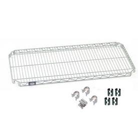 "Nexel S1436AC Quick Adjust Wire Shelf 36""W x 14""D with Hooks and Clips"