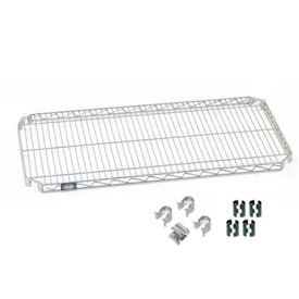 "Nexel S1448AC Quick Adjust Wire Shelf 48""W x 14""D with Hooks and Clips"
