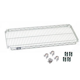 """Nexel S1848AC Quick Adjust Wire Shelf 48""""W x 18""""D with Hooks and Clips"""