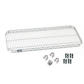 "Nexel S2436AC Quick Adjust Wire Shelf 36""W x 24""D with Hooks and Clips"