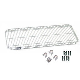 "Nexel S2448AC Quick Adjust Wire Shelf 48""W x 24""D with Hooks and Clips"