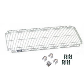 """Nexel S2472AC Quick Adjust Wire Shelf 72""""W x 24""""D with Hooks and Clips"""