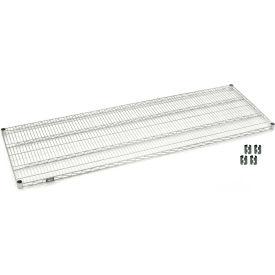 "Nexel S2472S Stainless Steel Wire Shelf 72""W x 24""D with Clips"