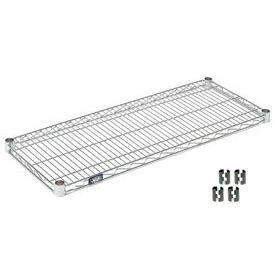 """Nexel S1442C Chrome Wire Shelf 42""""W x 14""""D with Clips"""