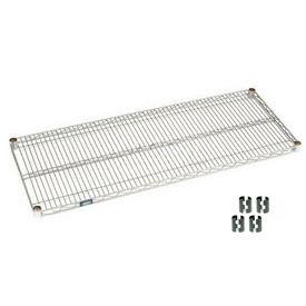 """Nexel S2160C Chrome Wire Shelf 60""""W x 21""""D with Clips"""