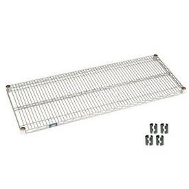 """Nexel S2454C Chrome Wire Shelf 54""""W x 24""""D with Clips"""