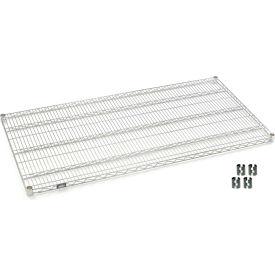 """Nexel S3072C Chrome Wire Shelf 72""""W x 30""""D with Clips"""