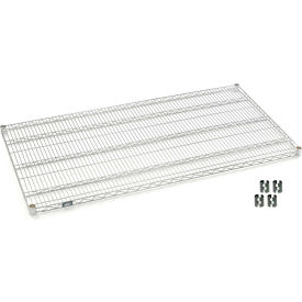 """Nexel S3660C Chrome Wire Shelf 60""""W x 36""""D with Clips"""