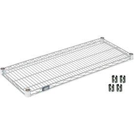 """Nexel S1448C Chrome Wire Shelf 48""""W x 14""""D with Clips"""