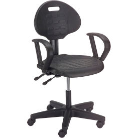 Puncture Proof Ergonomic Polyurethane Chair With Armrests