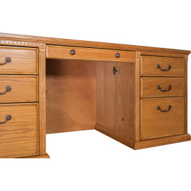 Executive Desk with Center Drawer for Huntington Office Furniture - Medium Oak