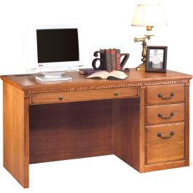 Martin Furniture Computer Desk - Single Pedestal - Wheat - Huntington Oxford Series