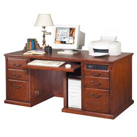 Executive Desk with Keyboard Drawer for Huntington Office Furniture - Cherry