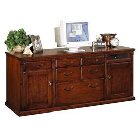 Credenza with Kneehole for Huntington Office Furniture - Cherry