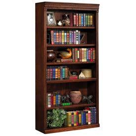 """Martin Furniture 72"""""""" Open Bookcase - Vibrant Cherry - Huntington Club Series"""