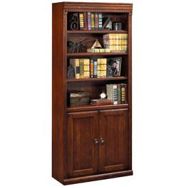 Martin Furniture Library Bookcase - Vibrant Cherry - Huntington Club Series