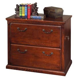Desks Traditional Wood Martin Furniture 2 Drawer Lateral File Cabinet Vibrant Cherry Huntington Club Series 250587ch Global