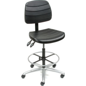 Interion™ Deluxe 5 Way Adjustable Polyurethane Stool