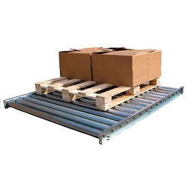Vestil Galvanized Steel Pallet Floor Conveyor CONV-52-5-2-3L-Z - 5'L - 5000 Lb. Cap.