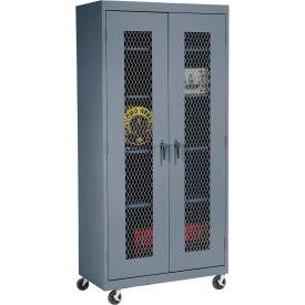 Sandusky Expanded Metal Door Mobile Storage Cabinet TA4M361872 - 36x18x78, Charcoal