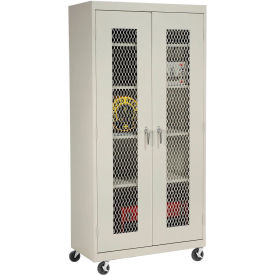 Sandusky Expanded Metal Door Mobile Storage Cabinet TA4M362472 - 36x24x78, Putty