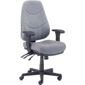 8 Way Adjustable Fabric Executive Chair Gray