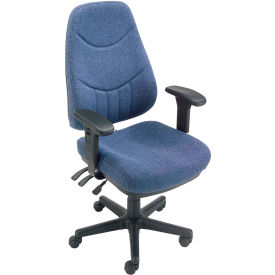 8 Way Adjustable Fabric Executive Chair Blue
