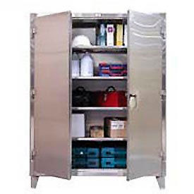 Strong Hold® Heavy Duty Storage Cabinet 55-243SS - Stainless Steel 60 x 24 x 66