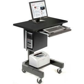 Mobile Computer Cart - Black