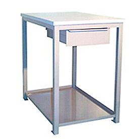 24 X 36 X 24 Drawer / Shelf Shop Stand - Plastic - Blue