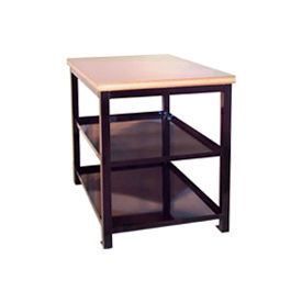 24 X 36 X 30 Double Shelf Shop Stand - Plastic - Blue