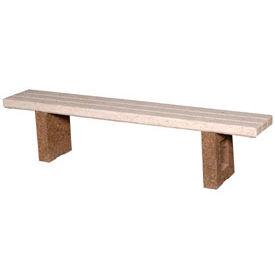 """Concrete 72"""" Commercial Flat Bench"""