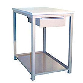 24 X 36 X 36 Drawer / Shelf Shop Stand - Plastic - Gray