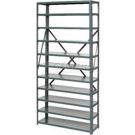 Steel Open Shelving 11 Shelves No Bin - 36x12x73