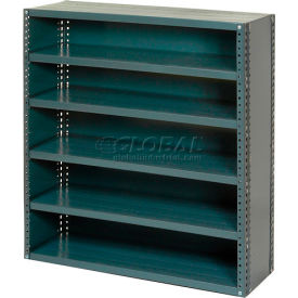 Steel Closed Shelving 6 Shelves No Bin - 36x12x39