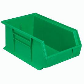 Quantum Plastic Stackable Bin QUS241 8-1/4 x 13-5/8 x 6 Green - Pkg Qty 12