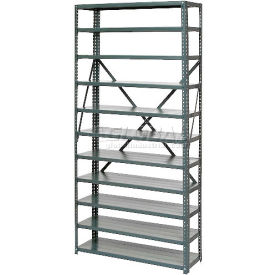 """Open Style Steel Shelf With 13 Shelves 36""""Wx18""""Dx73""""H Ready To Assemble"""